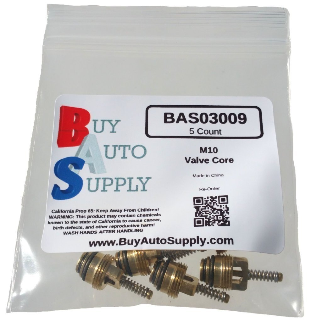 GM 10245619 M10 Brass A//C Schrader Valve Core Aftermarket Replacement For MT0065 Buy Auto Supply # BAS03009 Chrysler 4882331 Ford 4L3Z19D701A /& More Vehicles 59356 50 Count