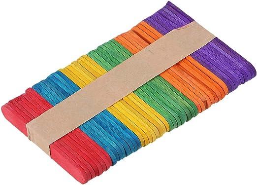 Supvox - 50 palos de madera para helado, palos de madera, palos de ...