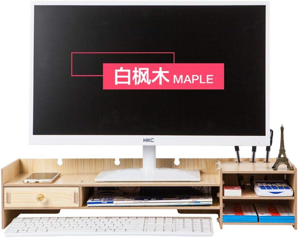 GCX&LV TV Soporte Monitor,Repisa para TV Bandas Organizador Monitor 2 Niveles con cajón Madera Soporte Pantalla-B: Amazon.es: Hogar