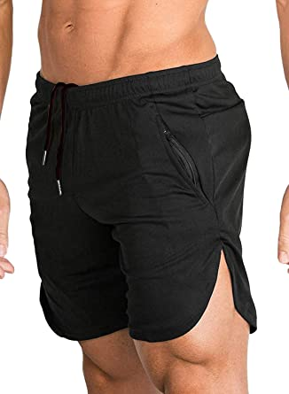 Men Casual Solid Training Sport Gym Fitness Jogging Workout Shorts Pants Pockets