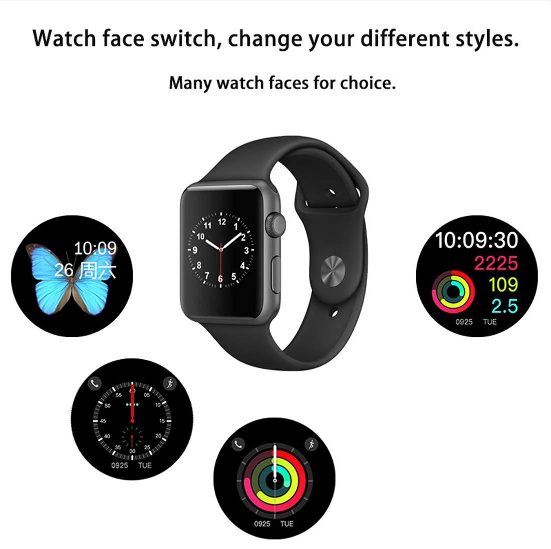 Smart watch W53 Bluetooth Series 3 Smartwatch Estuche para Apple iOS iPhone Android Phone Deporte Pulsera Fitness Reloj De Pulsera,Aluminumsilver