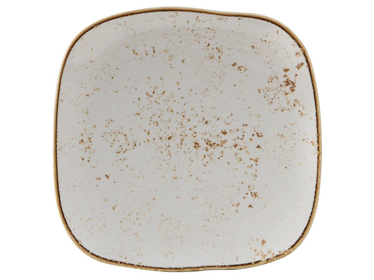 Tuxton Home THGGA502-4B Artisan Ceramic Plate, 11'', Geode Agave White