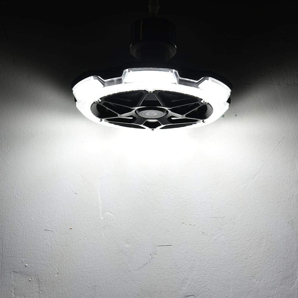 120W Garage Light Round 5 Head Lighting Super Bright LED Plafoniera E26 / E27 Lampada Bianca Fredda per Garage Casa Cantina Magazzino Argento Nero