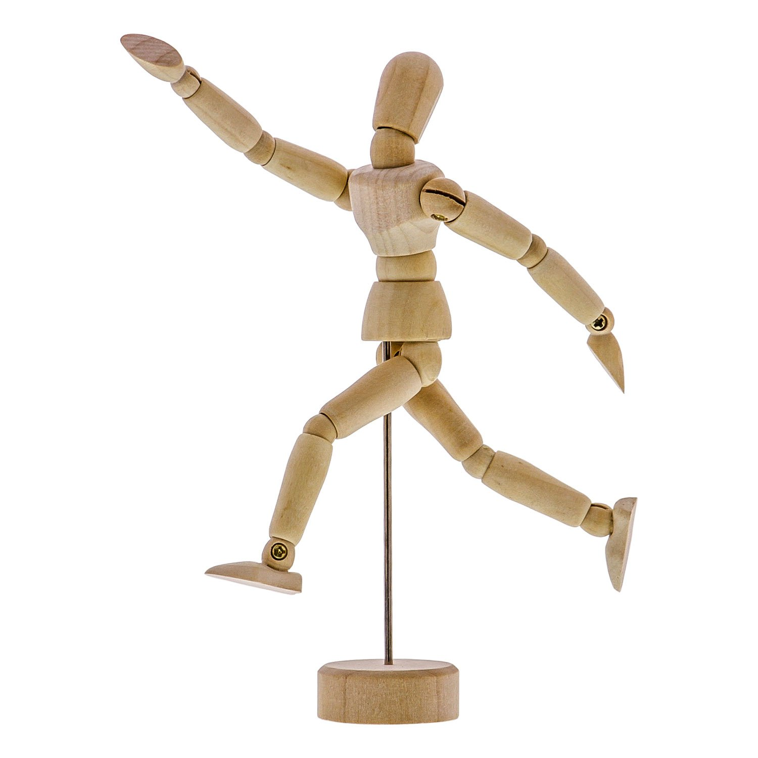 US Art Supply Wood Artist Drawing Manikin Articulated Mannequin with Base and Flexible Body - Perfect For Drawing the Human Figure (5 Male) M-5MALE