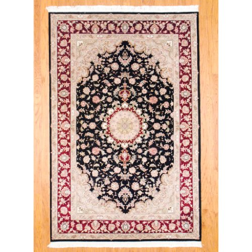 Amazon Com Herat Oriental 6 X 9 Chinese Hand Knotted Tabriz Black
