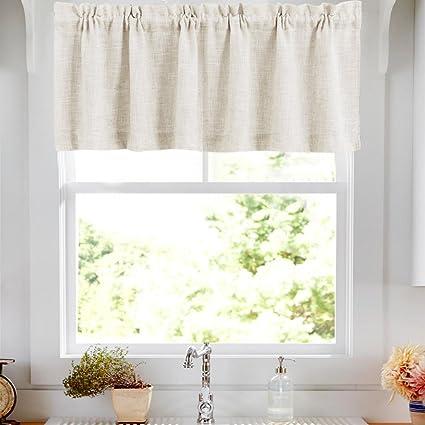 Amazon.com: Valances Window Treatments Linen Textured Valances for ...