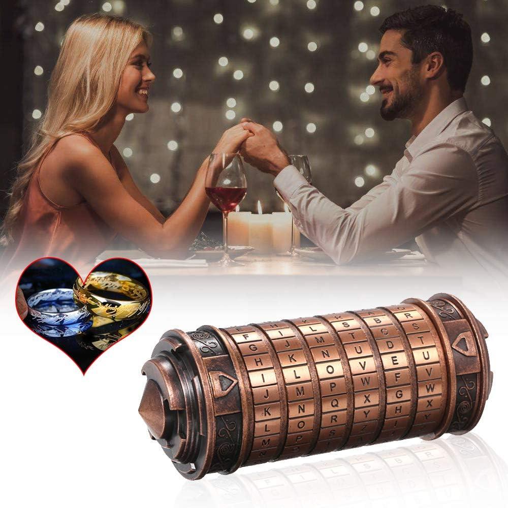 Weehey Code Toys Metall Cryptex Schl/össer Hochzeitsgeschenke Passwort vorhanden