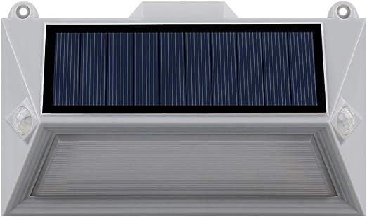 Lumi Jardin POLY W11 - Foco solar con 18 ledes para exterior impermeable con doble detector de movimiento, plástico, integrado, 1 W, gris, 16 x 9,5 x 3,6 cm: Amazon.es: Iluminación