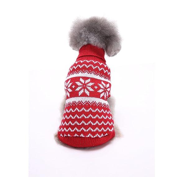 zolimx® Mascotas Perros Accesorios Ropa, Abrigos y Chaquetas para Mascota Perro Gato Caliente de Punto Suéter Cachorro Copo de Nieve Abrigo: Amazon.es: Ropa ...