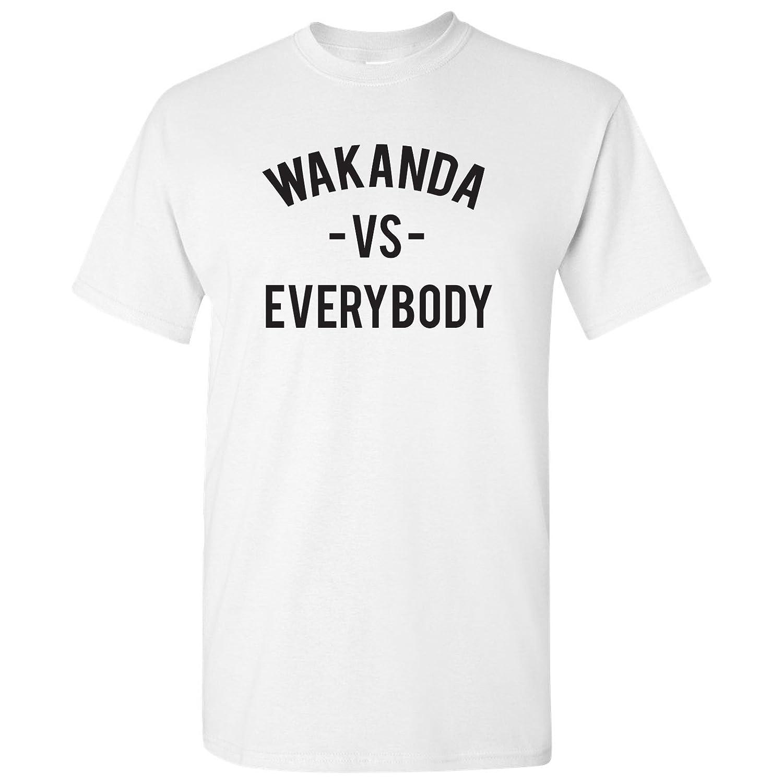 Wakanda Vs Everybody - Panther Comic Superhero Movie Funny Graphic T Shirt