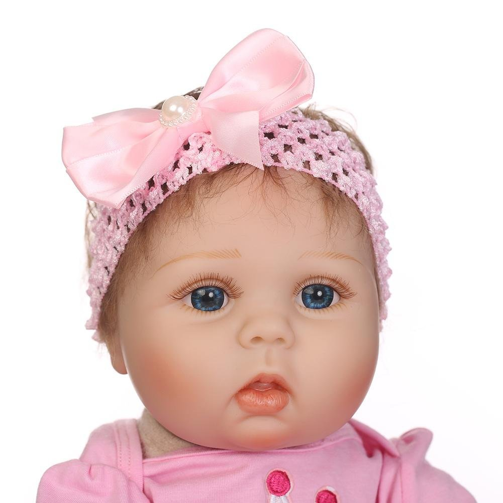 chinatera Kids Toy NPK Lovely Realistic Simulation Reborn Doll Soft Silicone Lifelike Artificial Kids Cloth Dolls by chinatera (Image #5)
