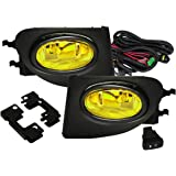 Fit 2002-2005 Honda Civic (SI EP3 Hatchback Only) Front Bumper Fog Lights Yelllow Includes H11 Bulbs Wiring Harness and…