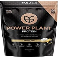Prana On French Vanilla Power Plant Protein Powder, Vanilla, 1 kilograms
