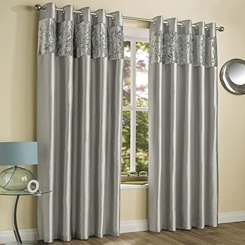 Sienna Crushed Velvet Eyelet Pair Of Fully Lined Curtains