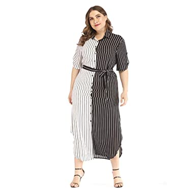 Amazon.com: TENDYCOCO 1pc Women\'s Plus Size Shirt Dress ...