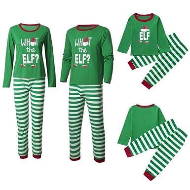 947c814c99176 BenCreative Pyjamas de Noël Assortis pour la Famille avec L'ELE Coton de  Vacances Adultes Enfants Pyjamas à Manches Longues Ensembles de Nuit:  Amazon.fr: ...