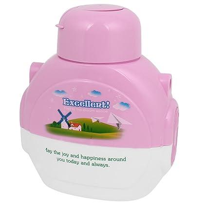 Jardín molino de viento cadorabo rosa botella de plástico blanco 570 ml