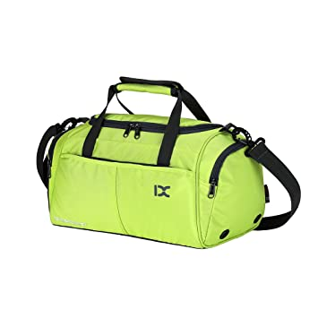 IX Sports Outdoor Gym Tote Bags with Shoes compartment for Men Women Green 4a937d995c