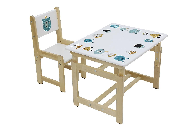 Set Tavolo e sedia per bambini, Polini Kids Eco 400 SM Modello in legno, 3051 Polini-Kids