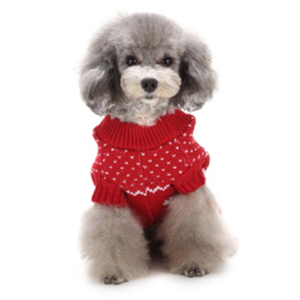 XXL, Blue Orange wocharm Pet Dog Christmas Sweater Puppy Cat