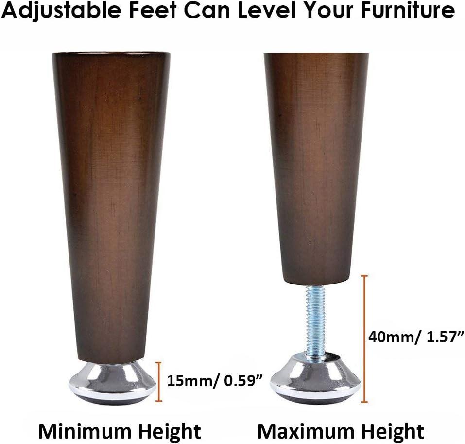 Yakamoz Lot de 20 pieds de nivellement de meubles M8 R/églables avec /écrou en T 40/x 30/mm