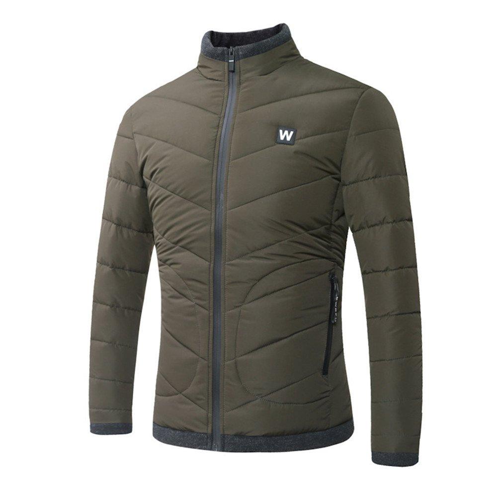 Hgfjn männer - Mode Casual Baumwolle gepolsterte Winter Mode Stimmen überein,Army Grün,XL