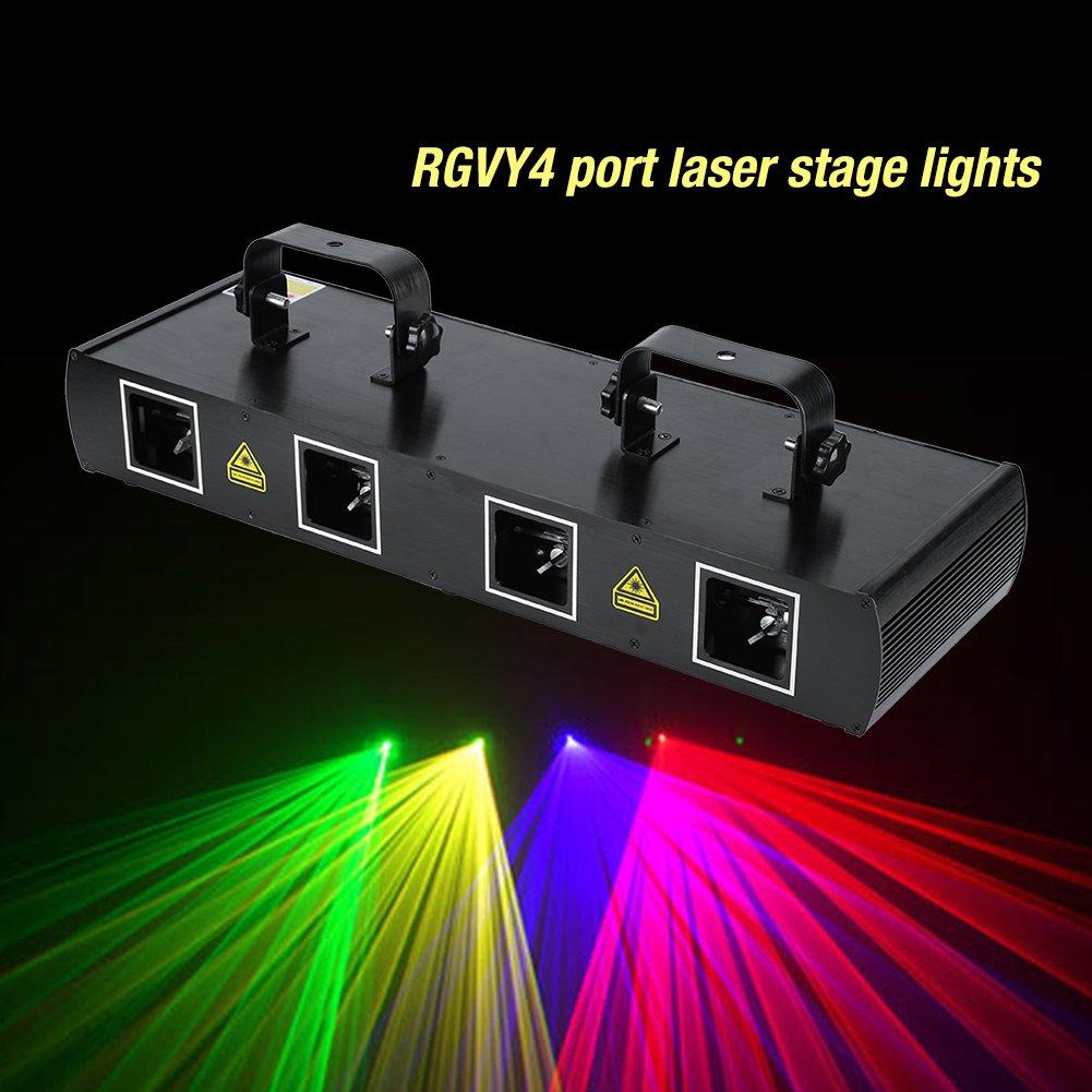 4Lens 30W Laser Stage Light 7CH DMX512 Sound Actived Disco DJ Party LED Effect Lights US Plug 110V