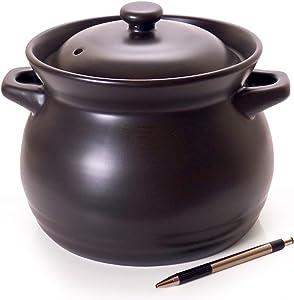 Spiceberry Home Ceramic Hot Chili Bean Pot/Dutch Oven, 3 Quart