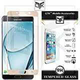TheGiftKart™ Edge-To-Edge Ultra Premium HD Curved Full Screen Tempered Glass Screen Protector (Complete Screen Coverage & Precise Cut-outs for Camera & Sensors) For Samsung Galaxy A9 PRO - Golden