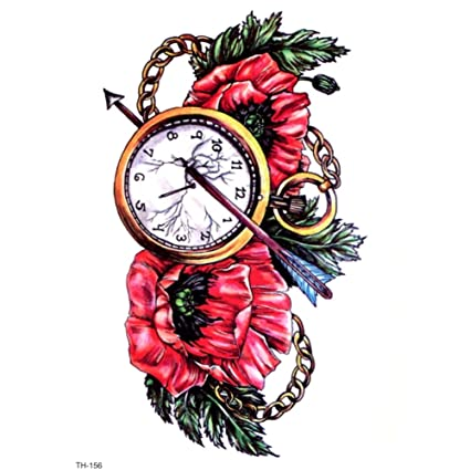 Justfox - Reloj de tatuaje temporal, diseño de flecha, pegatina ...