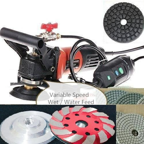- Wet Polisher Diamond aluminum based grinding cup backer polishing pad glazing buffer Natural artificial stone concrete marble resurfacing repair granite maintenance terrazzo sealer glass mosaic trim