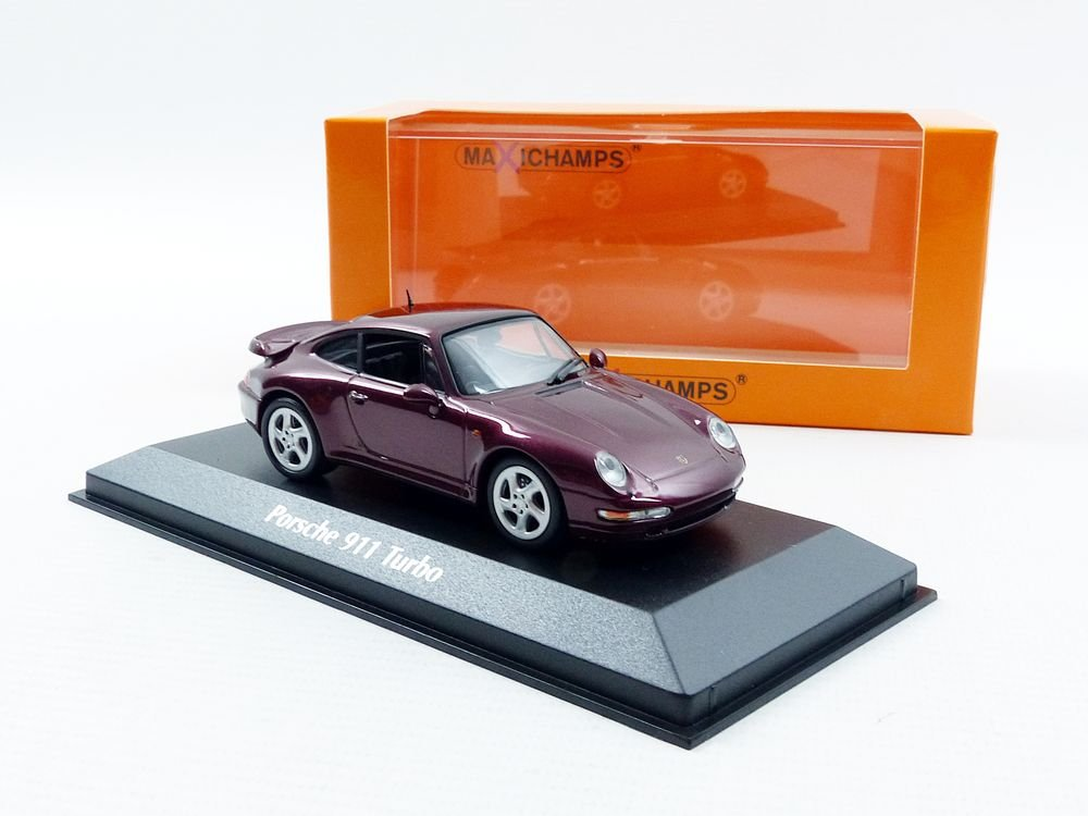 Amazon.com: Minichamps 940069200 Maxichamps 1: 43 1997 Porsche 911 Turbo S - Red Metallic: Toys & Games