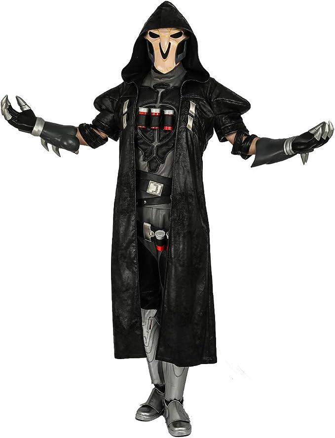 Disfraz de La Muerte Reaper Cosplay Overwatch Game Gabriel Reyes ...
