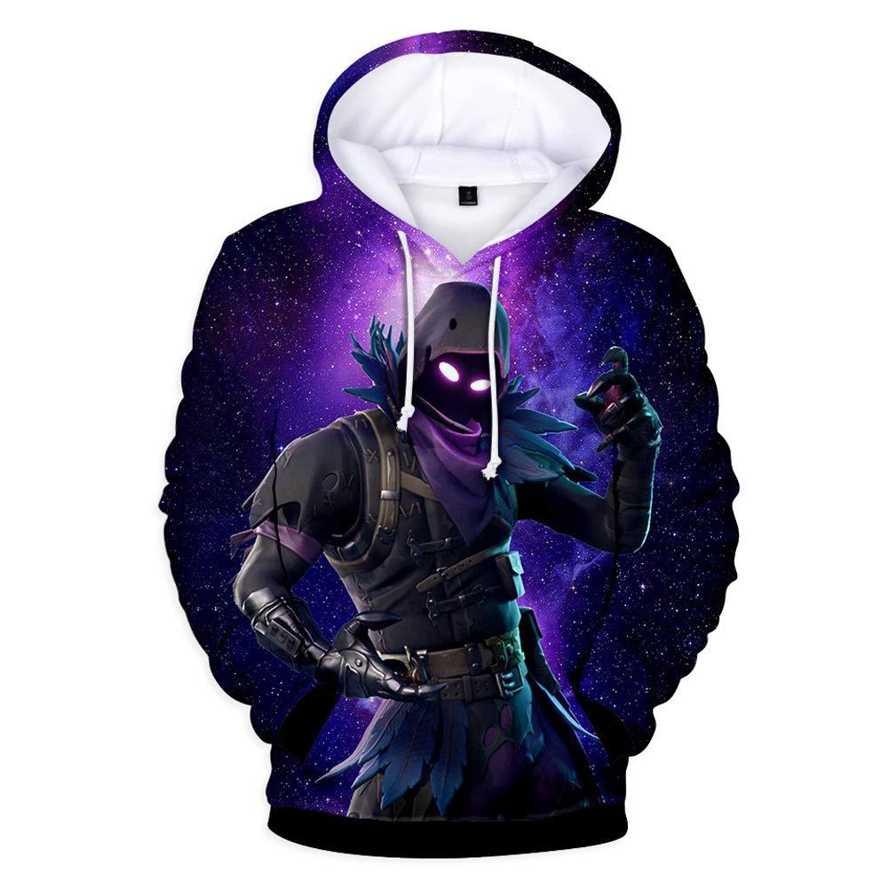 Tungly Unisex 3D Printed Galaxy Sweatshirts Drawstring with Pockets