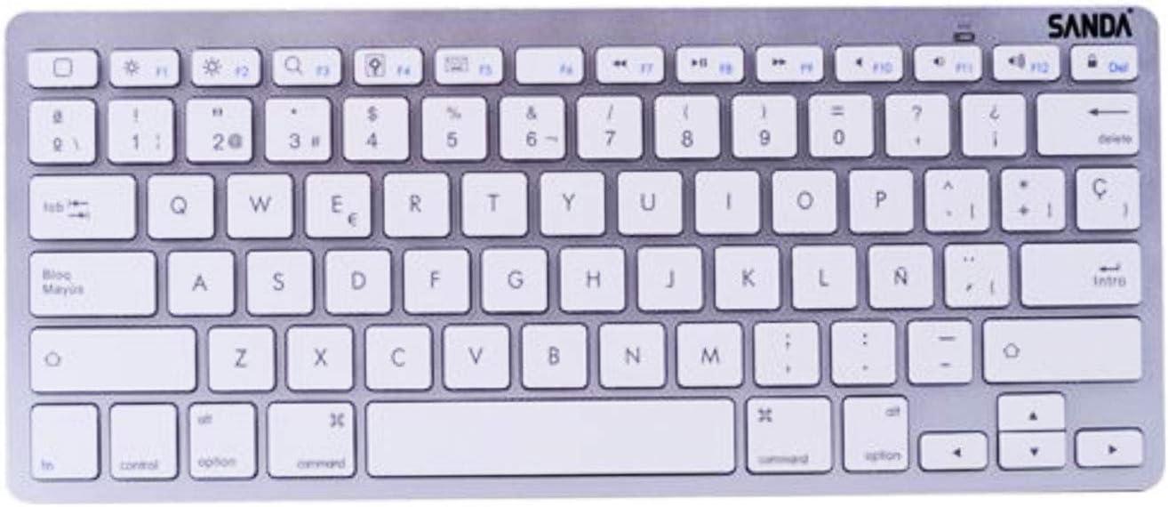 SANDA Teclado Mini en español Letra Ñ para Ordenador PC movil ...