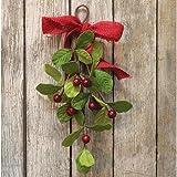 Heart of America Mistletoe & Berry Teardrop 12''