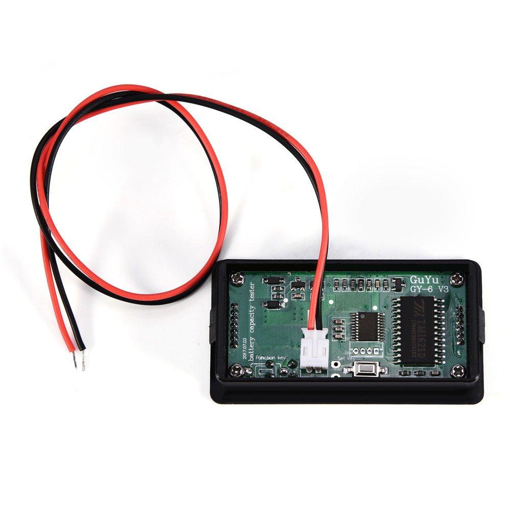 Zerone multifunzionale verde retroilluminato LCD Display universale capacit/à della batteria tester elettrico rilevatore quantit/à lettore con fibbia voltmetro monitor