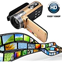 Nacome Infrared Night Vision Remote Control Handy Camera HD 1080P 24MP 18X Digital Zoom Video Camera DV with 3.0 LCD and 270 Degree Rotation Screen
