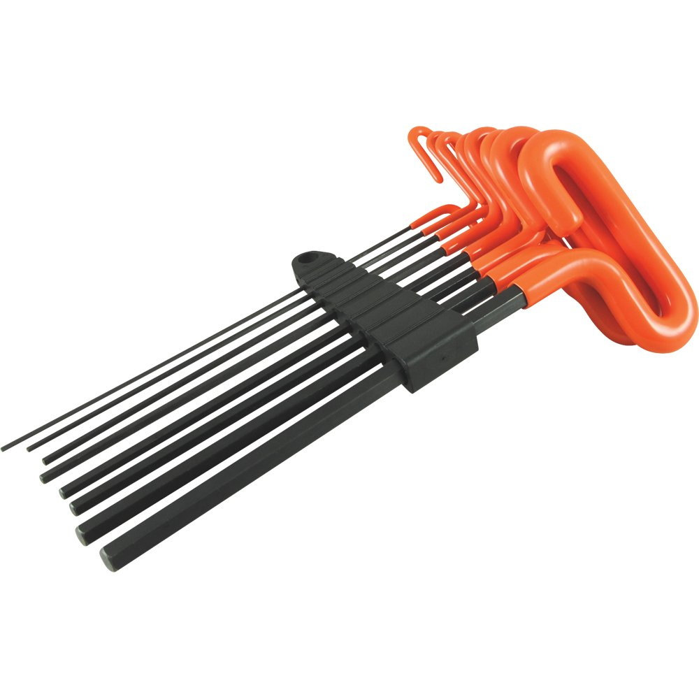 Dynamic Tools 8 Piece 9'' Long T-Handle Handle, Metric Hex Key Set, 2mm - 10mm by Dynamic Tools