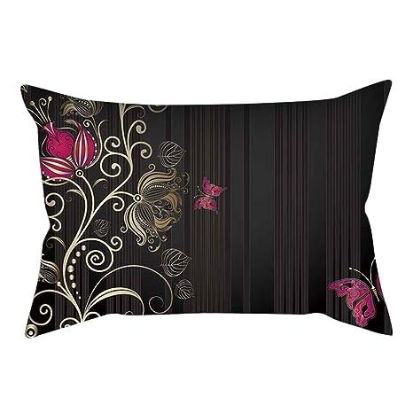 longyitrade - Funda de cojín de 30 x 50 cm, diseño de Mariposas, para sofá, Dormitorio, hogar, decoración