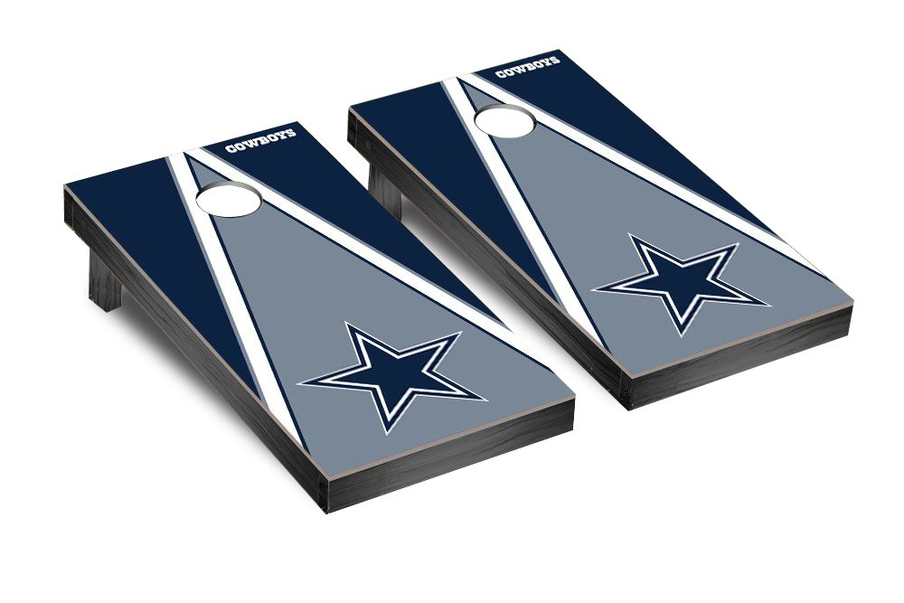 NFL Dallas Cowboys Triangle Version Football Corn hole Game Set, One Size
