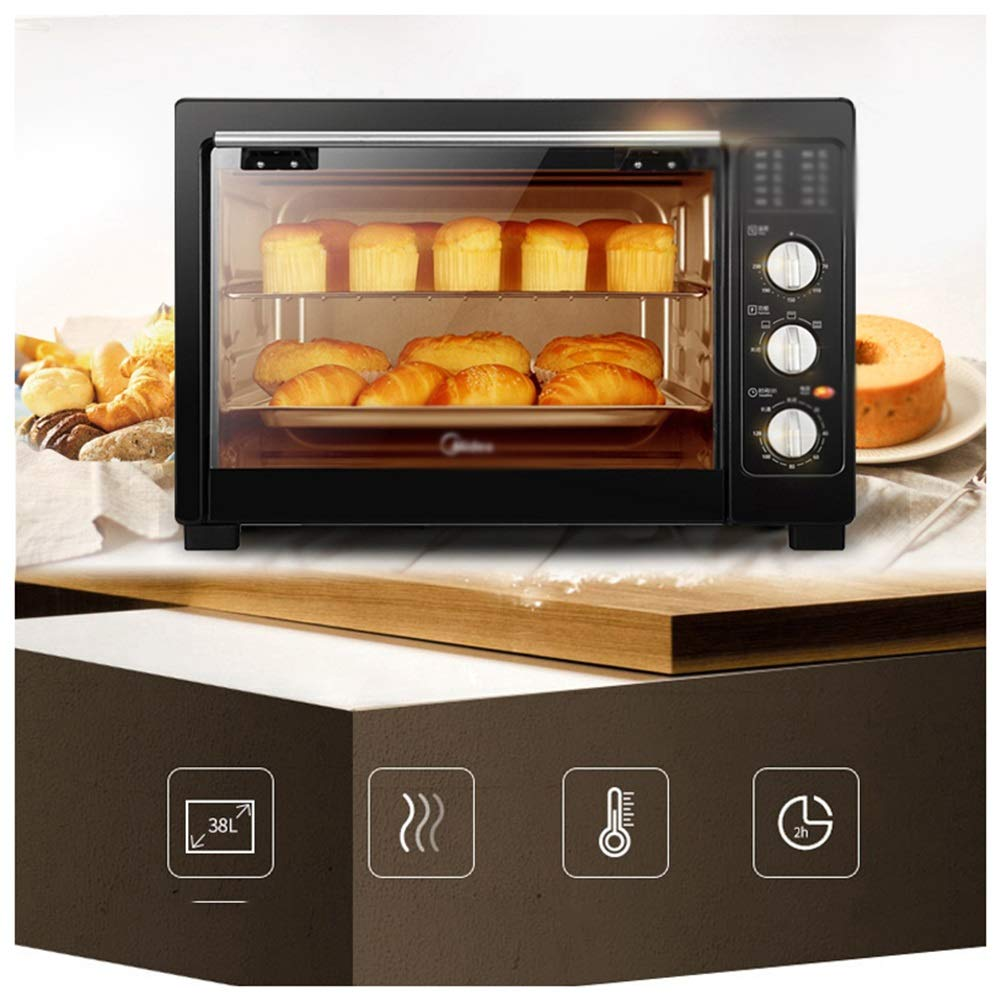 JDGK Ovens-Mini Oven with Grill,38Litre Fast Heating Toaster Oven,Cooking Functions,Includes Grill Rack & Baking Tray -mini Ovens
