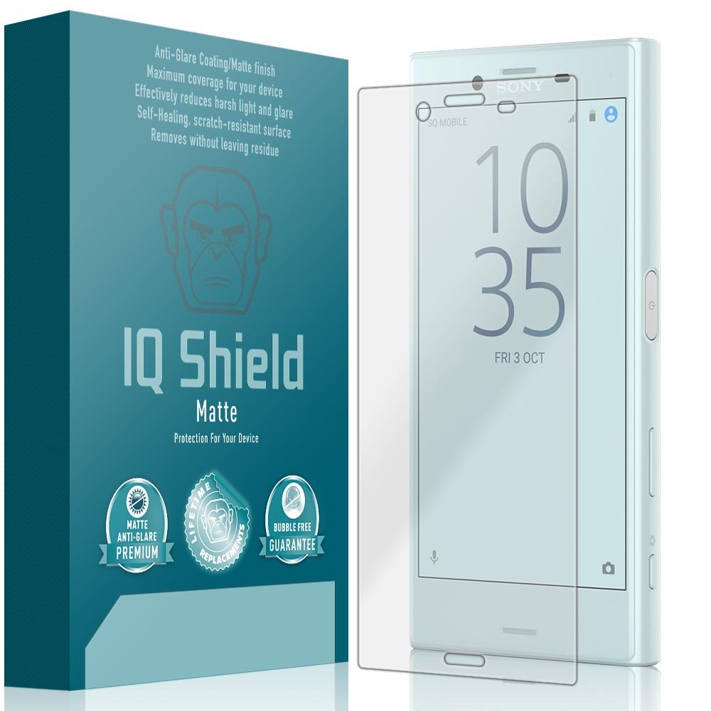 IQ Shield Matte Screen Protector Compatible with Sony Xperia X Compact (F5321) Anti-Glare Anti-Bubble Film
