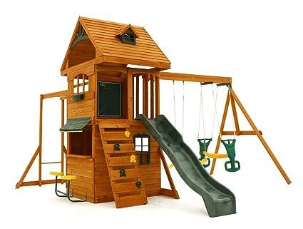 Amazon Com Big Backyard F270855 Ridgeview Clubhouse Deluxe Play Set