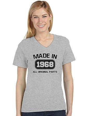 Amazon.com: Camiseta de mujer con cuello en V para 50 ...