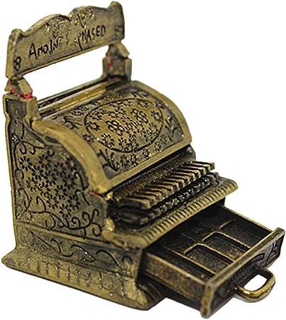 Ogquaton Caja registradora de Talla en Miniatura Vintage Colección de sorteo Abierta para 1/12 Dollhouse Práctico y Popular: Amazon.es: Hogar
