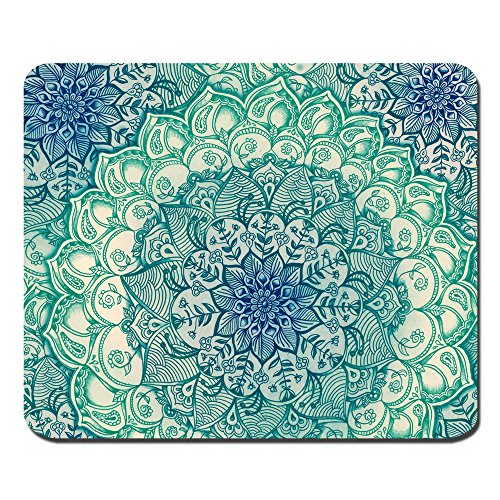 Rectangle Mousepad Creative Painting Customized Mandala Pattern Rectangle Mouse - Mouse Teal Pad