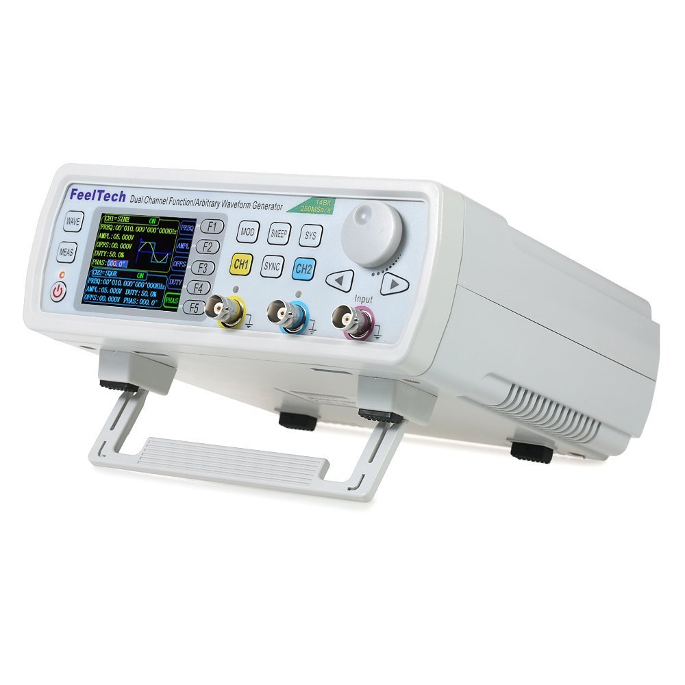 Adoner FY6600 60MHz Dual Channel High Precision DDS Arbitrary Signal Waveform Generator Counter, 2.4in Screen Display,250MSa/s, 819214bits,Frequency meter, VCO, Burst, Modulation Function HXT