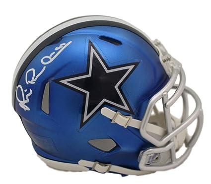 7bd3e2f9f3a Michael Irvin Autographed/Signed Dallas Cowboys Blaze Mini Helmet JSA