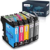 OfficeWorld Compatible Ink Cartridges Replacement for Brother LC203 203XL LC203XL Ink, Work with Brother MFC-J480DW, MFC…
